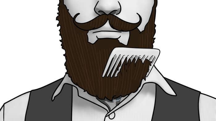 se brosser et se peigner la barbe