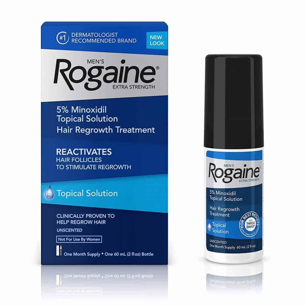 Rogaine extra forte pour hommes, solution topique à 5% de minoxidil