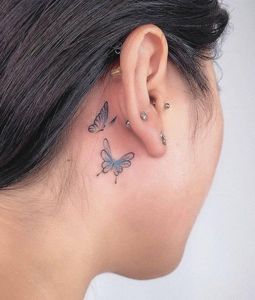 Tatouage de petites oreilles pour les femmes Kenlyziin