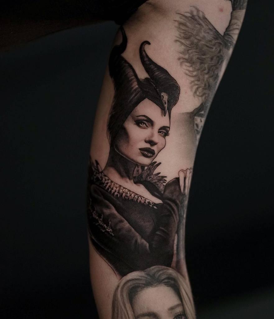 Tatouages maléfiques de Blackwork Brunander