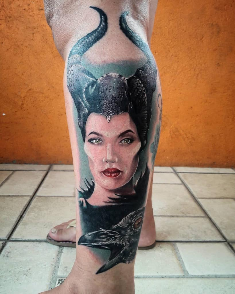 Tatouages maléfiques des jambes Tatouage Henriquemattos
