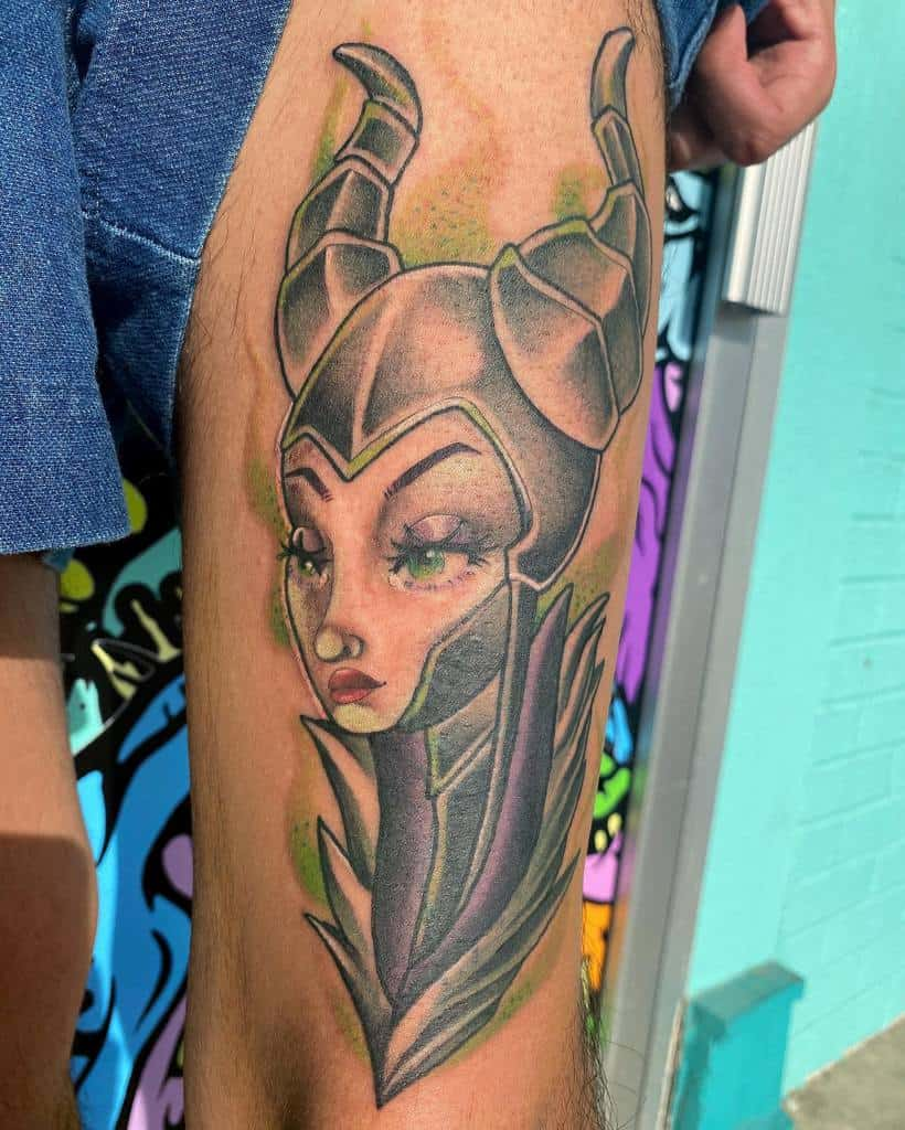 Tatouages maléfiques colorés à l'aquarelle Ilianasoleart