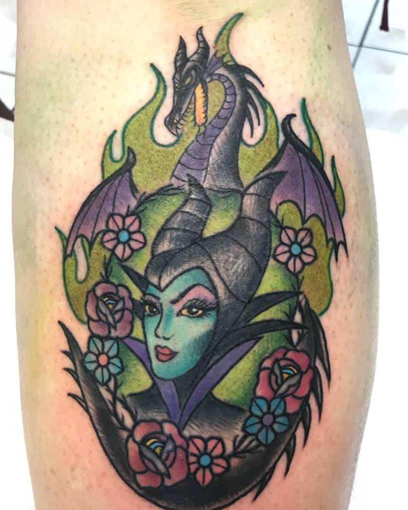Tatouages maléfiques colorés à l'aquarelle Sanae Kawaii