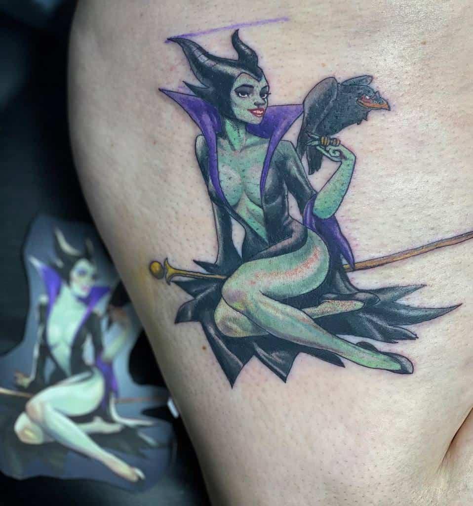 Aquarelle Tatouages maléfiques colorés Lucid.illusions