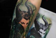 Top 65 Best Maleficent Tattoo Ideas – [2020 Inspiration Guide]