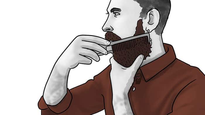 comment utiliser la cire de barbe 3