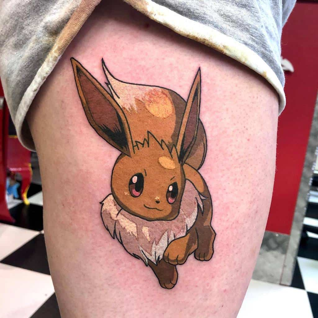 Tatouages Color Eevee Redstattooparlour