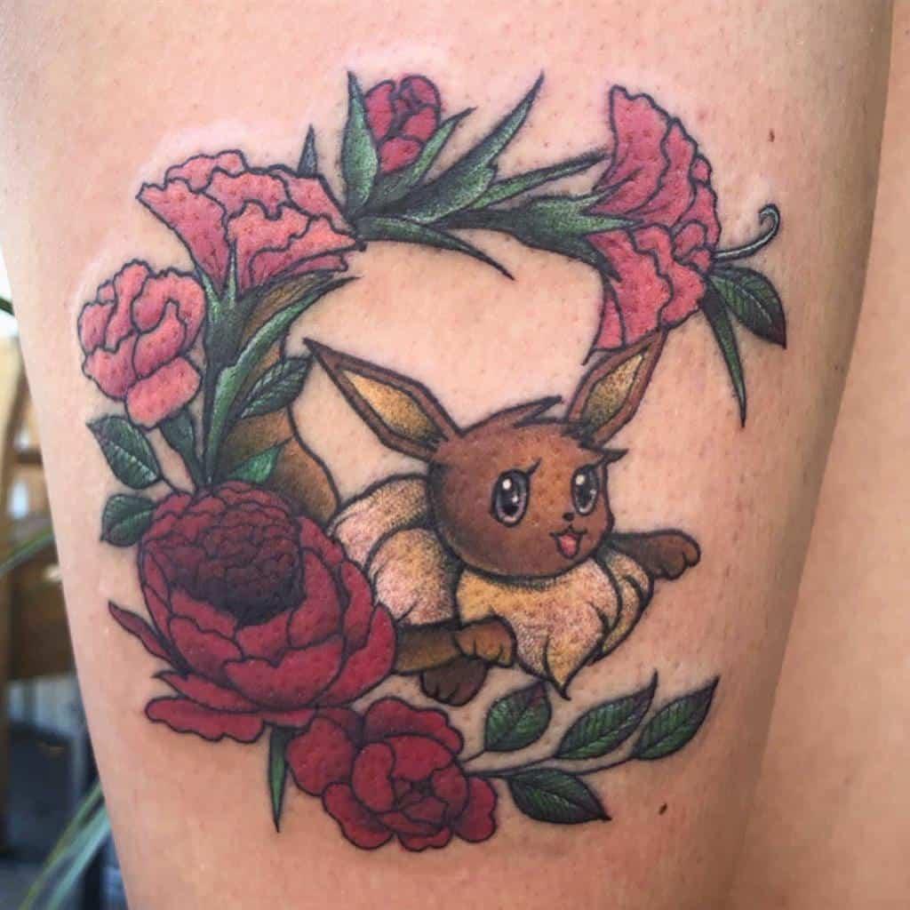 Tatouages floraux Jopie Lee