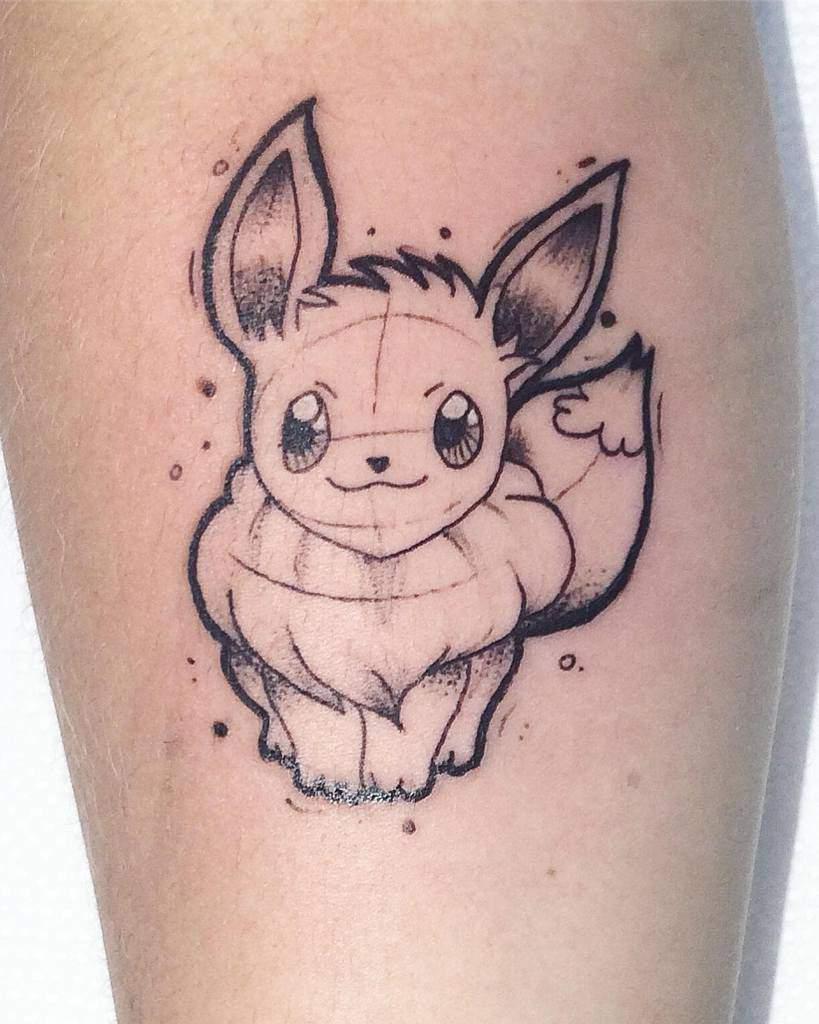 Croquis des tatouages de Eevee Leticomtattoo