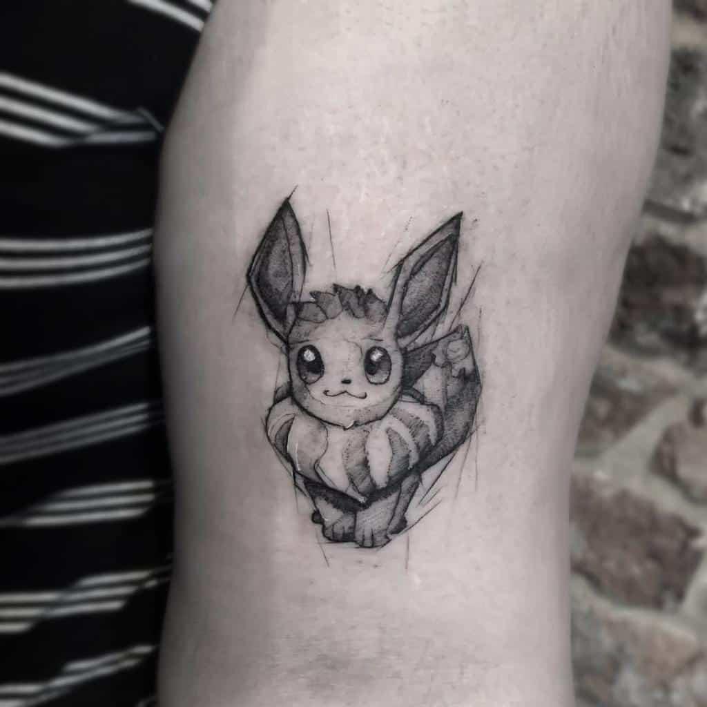 Croquis des tatouages de Eevee Liamm Blundell