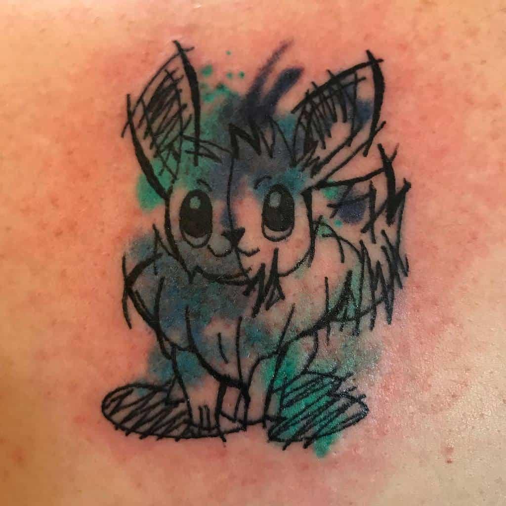 Sketch Eevee Tattoos T.k.art