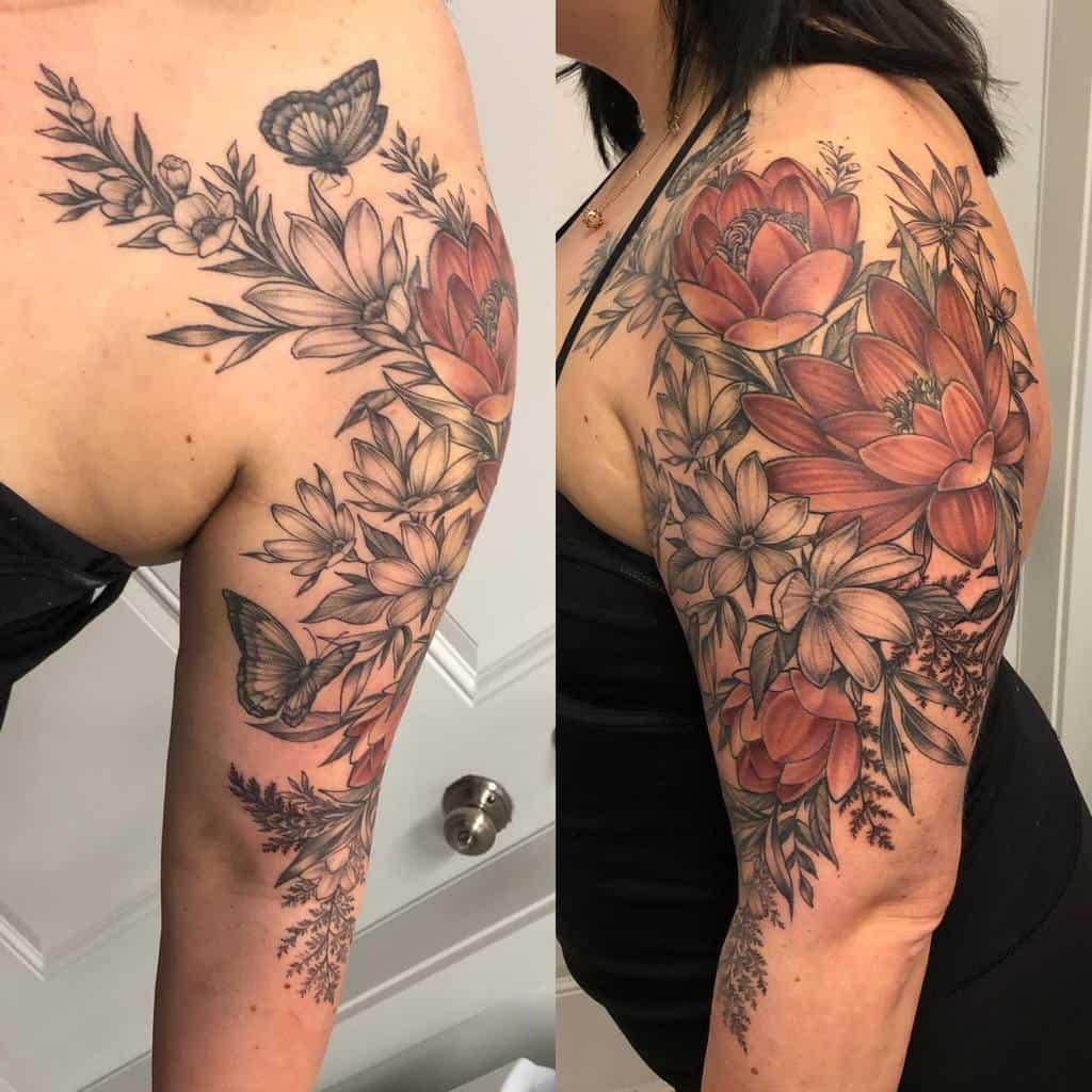 Tatouages de fleurs de jasmin sur les bras Kerrilynnink