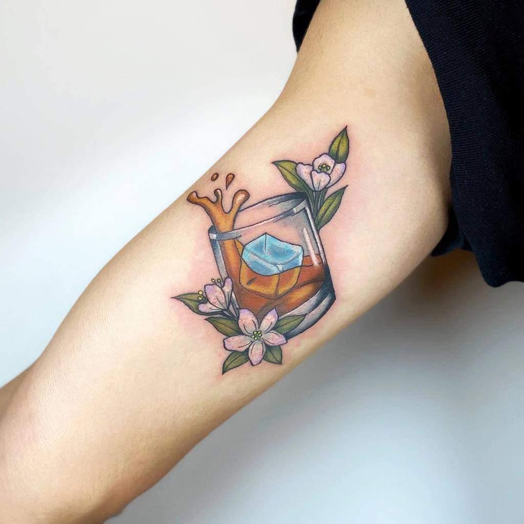Tatouages de fleurs de jasmin à l'aquarelle Takcotak