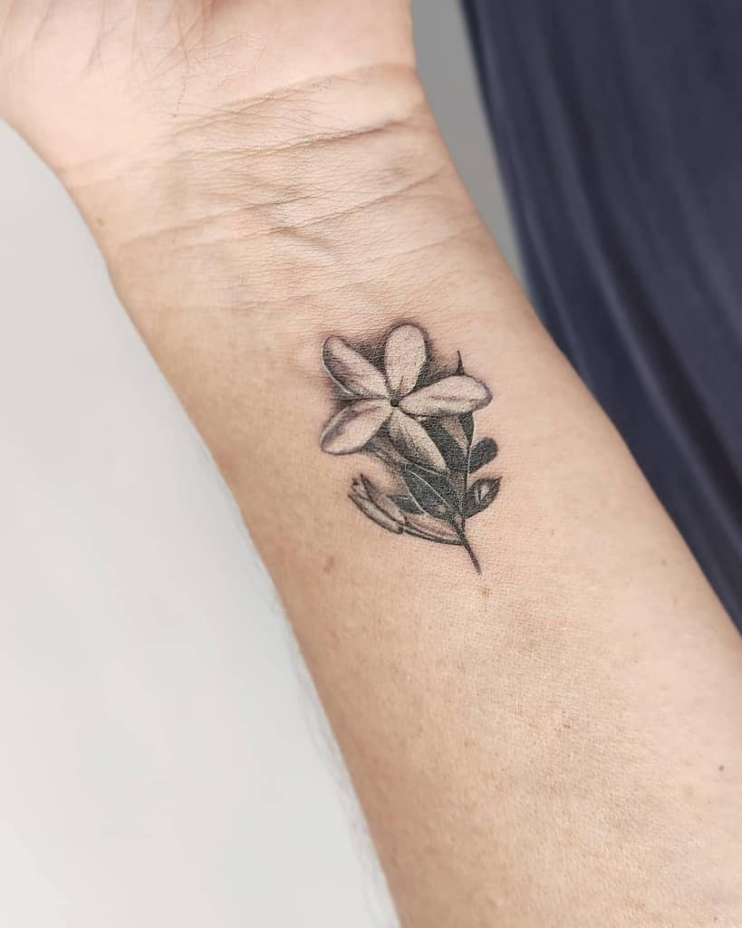 Tatouages de poignets en fleurs de jasmin Medusaink