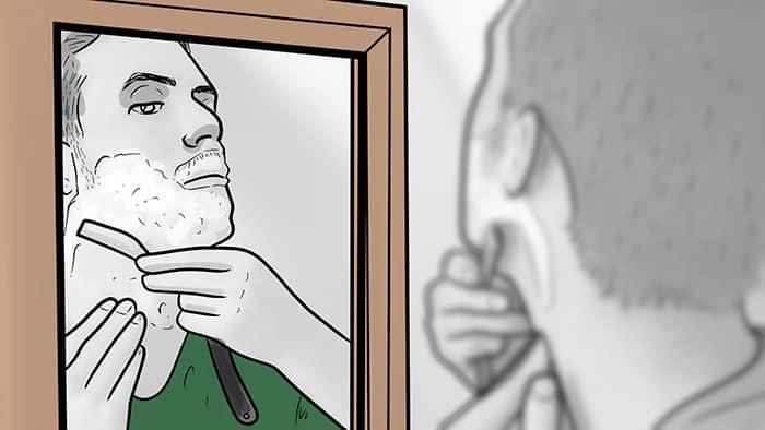 Utiliser le bon angle de rasage