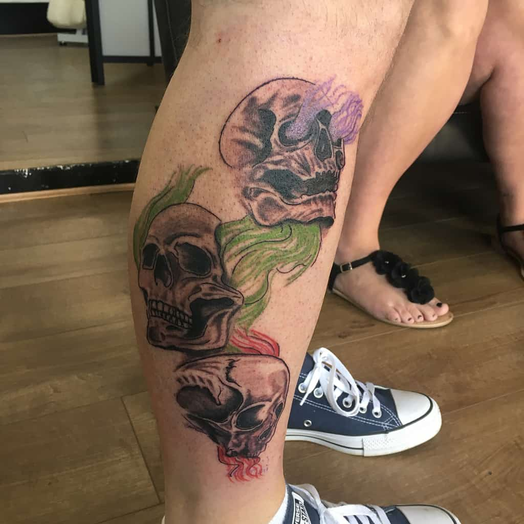 La jambe n'entend pas le mal ne voit pas le mal ne parle pas le mal Tatouages Studio101winsford
