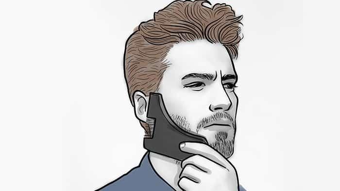 Raser avec un outil pour se raser la barbe