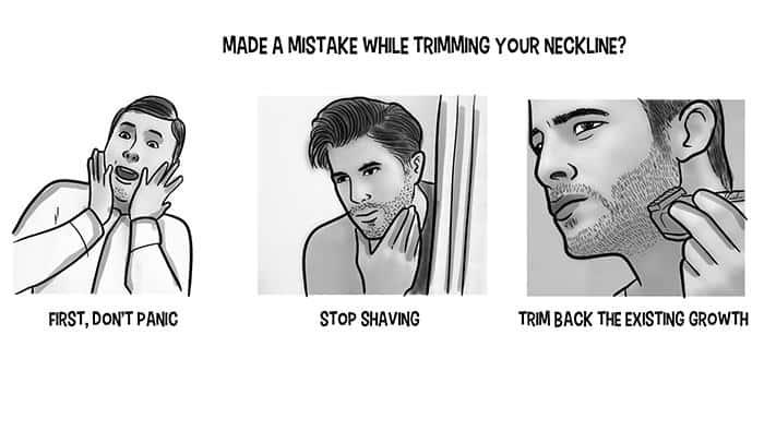 Que faire si vous faites une erreur en coupant votre cou