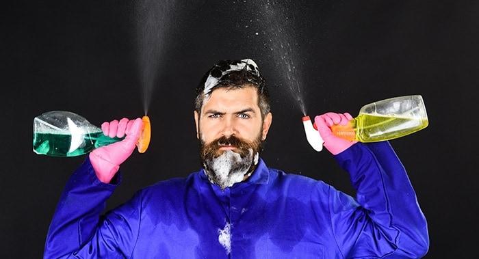 laver sa barbe