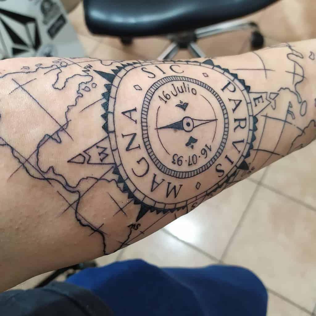 Avant-bras Sic Parvis Magna Tattoos Reendenam