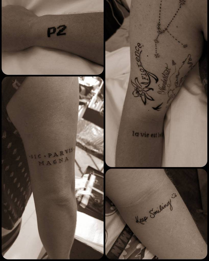 Arm Sic Parvis Magna Tattoos Itstamiibitch