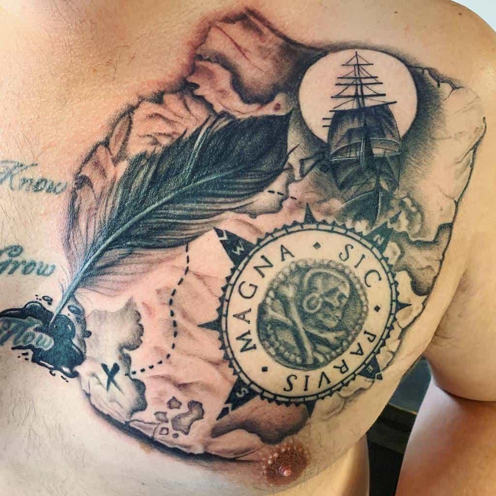 Tatouages à l'aquarelle Sic Parvis Magna Tatouages Frankybigras