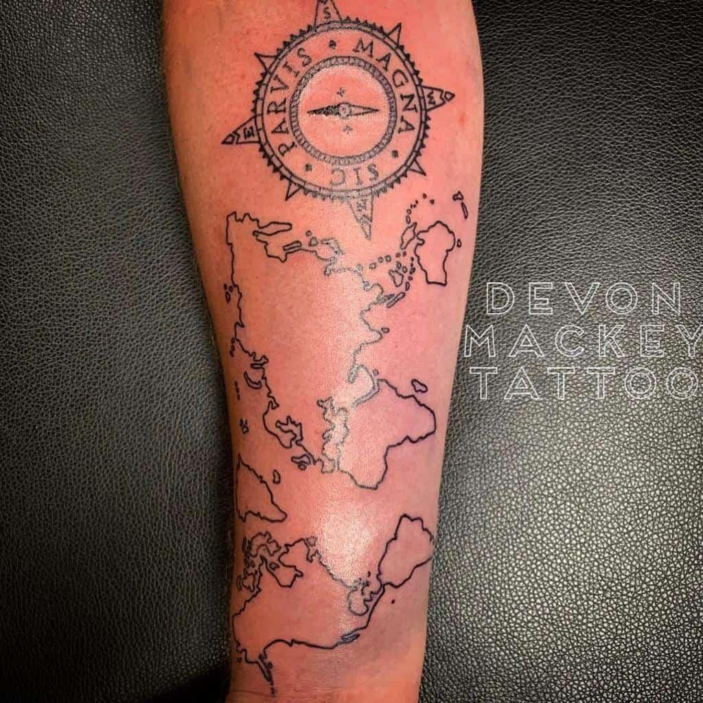 Tatouages Blackwork Sic Parvis Magna Tatouages Devonmackeytattoo