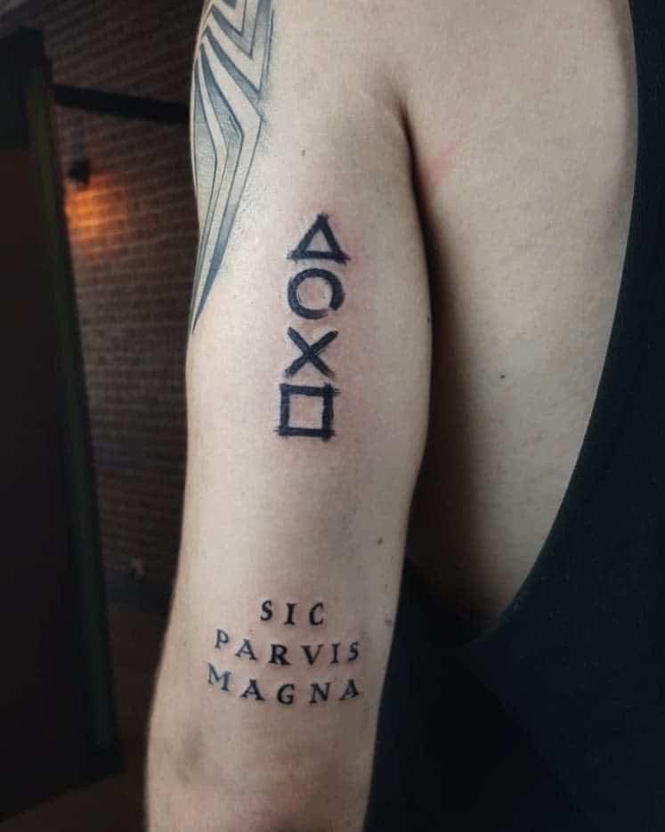 Arm Sic Parvis Magna Tattoos Silko Play