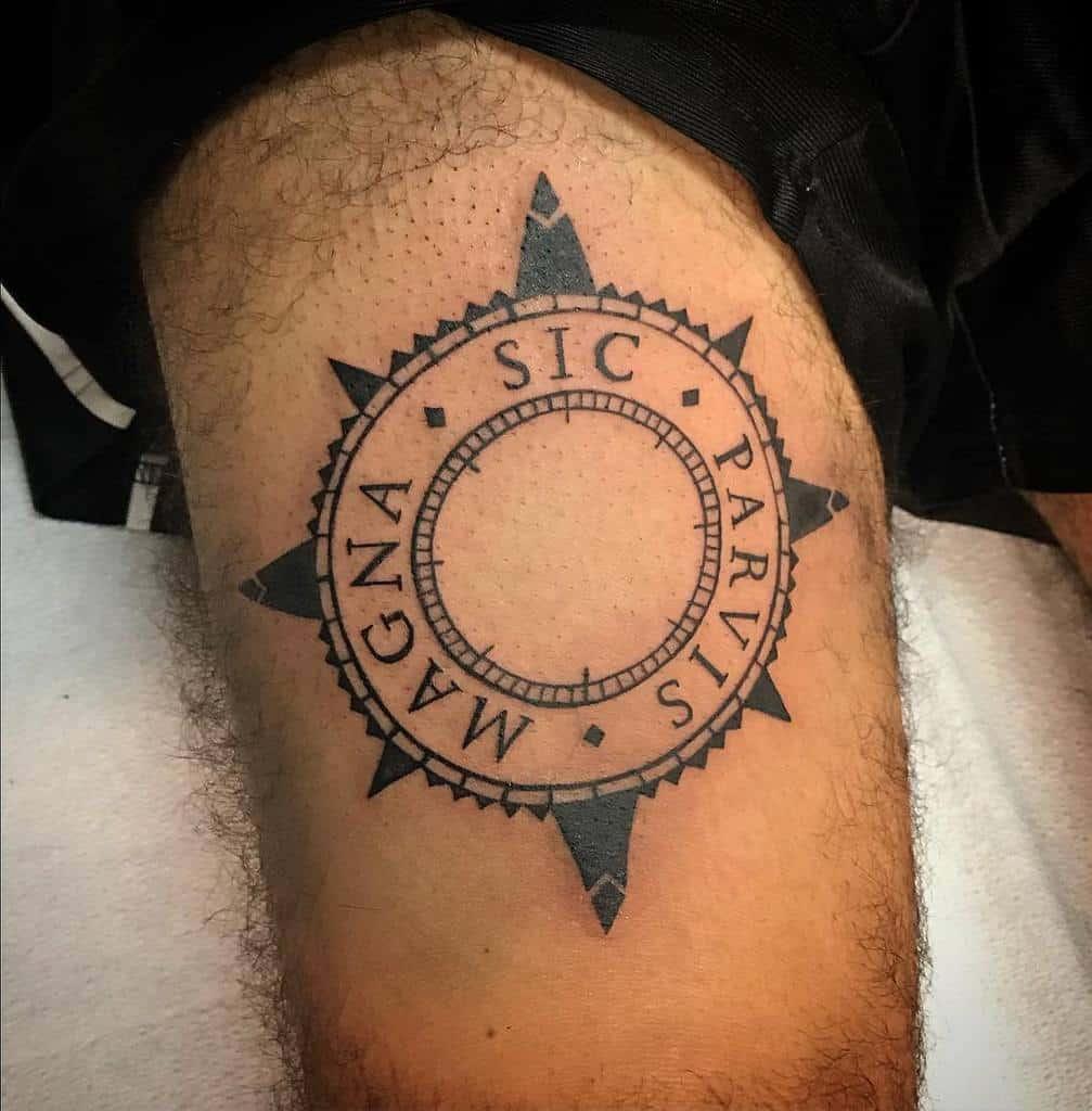 Blackwork Sic Parvis Magna Tattoos Sammansbridge