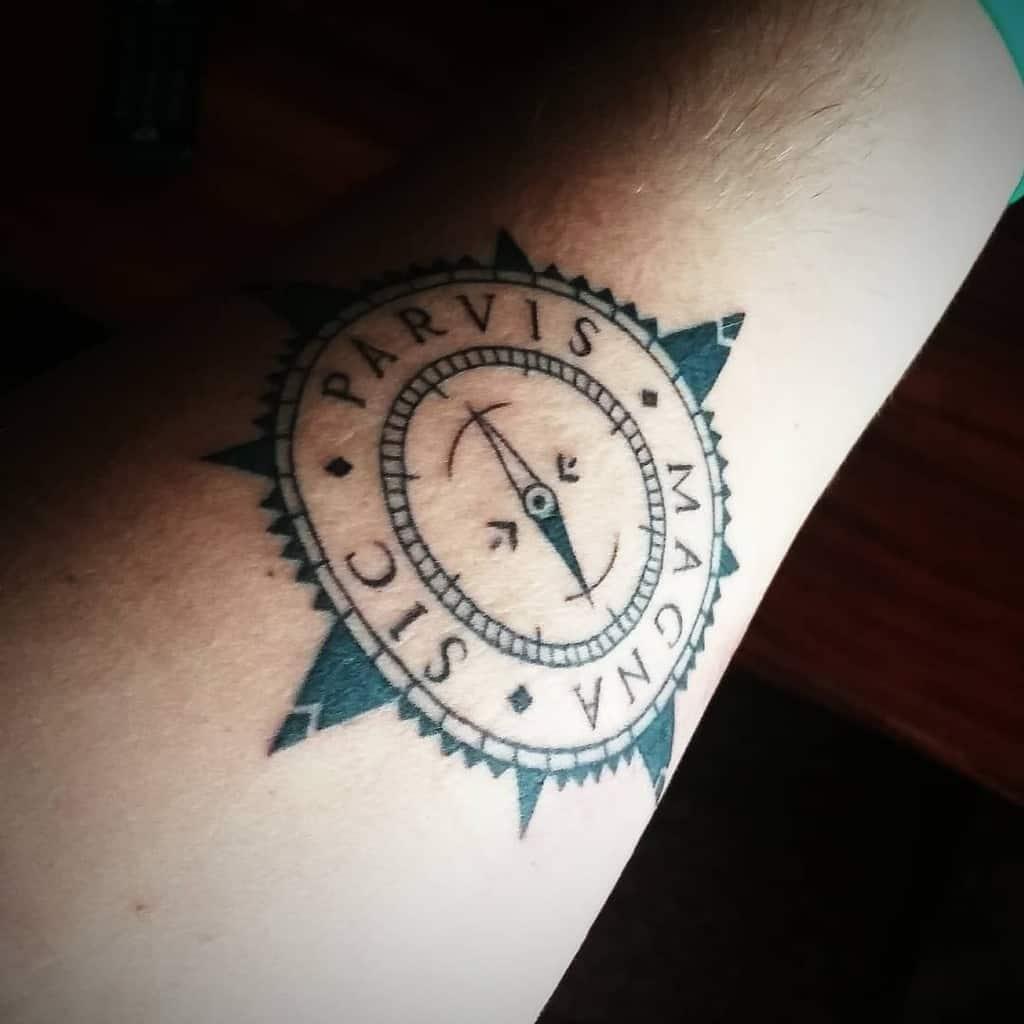 Compass Sic Parvis Magna Tattoos Stiflerdo