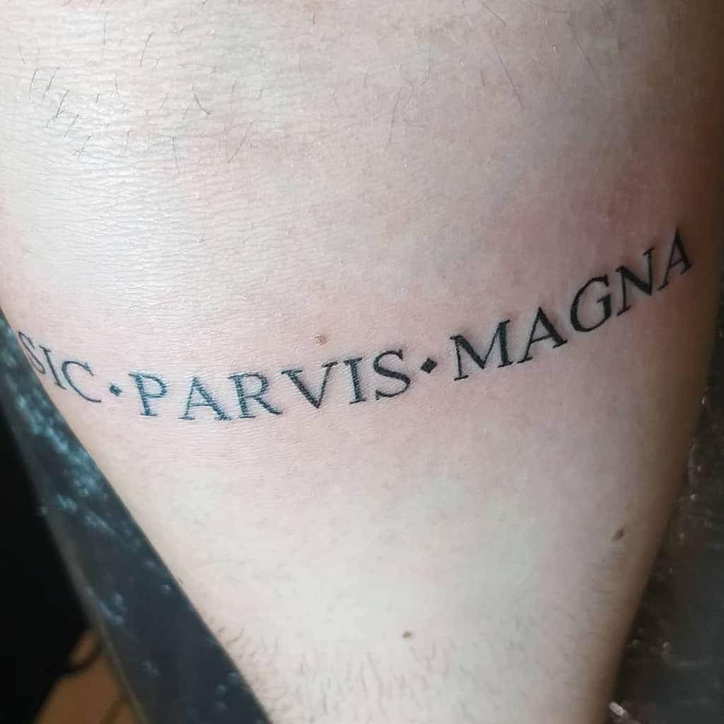 Petit Minimaliste Sic Parvis Magna Tattoos Freis26