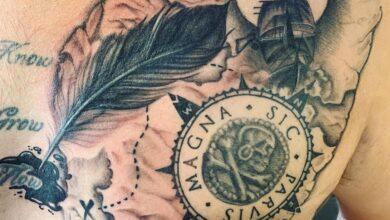 Photo de Top 101 des meilleures idées de tatouage Sic Parvis Magna