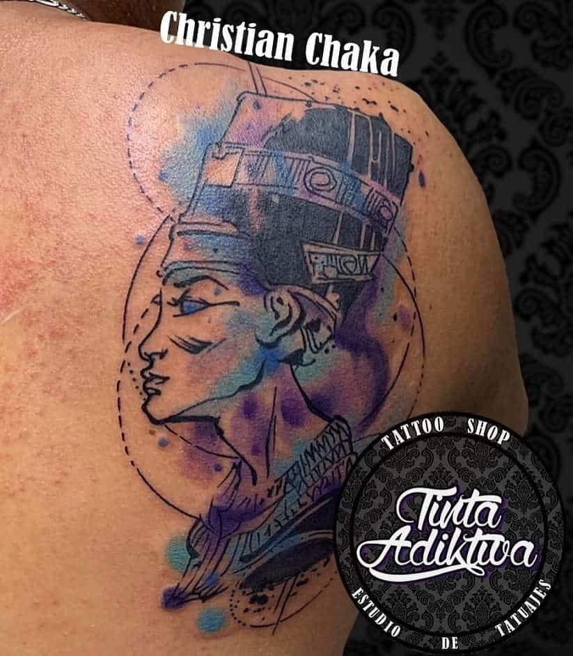 Tatouages simples de Néfertiti Tinta Adiktiva 2