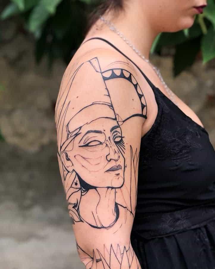 Tatouages de Néfertiti Martina Perlo