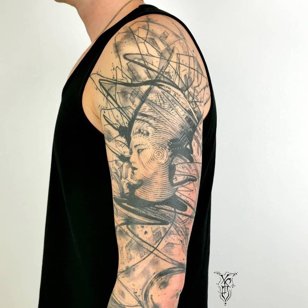 Tatouage de bras Nefertiti Tattoos X.p.electron