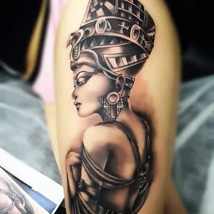 Tatouages réalistes de Néfertiti Tatouage de la vraie vision