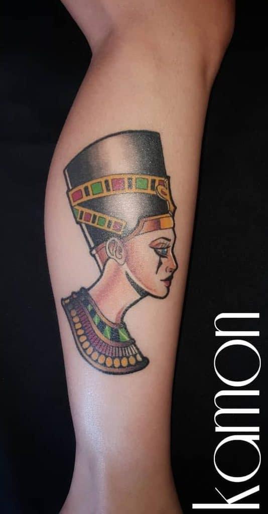Tatouages Néfertiti à l'aquarelle Renatokamon