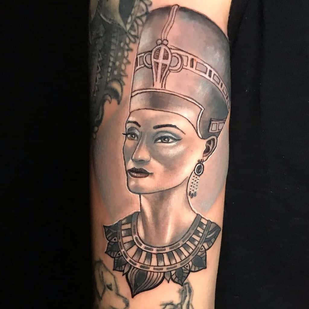 shaded nefertiti tattoos joseluisasensiottoo