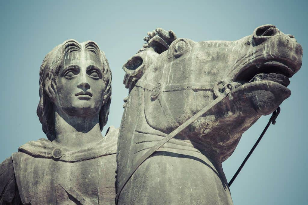 Statue d'Alexandre le Grand à Thessalonique, Macédoine, Grèce