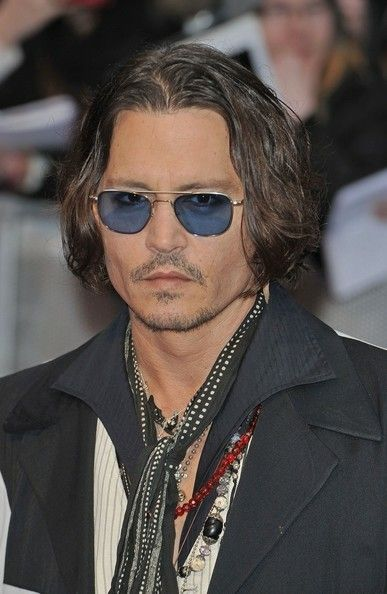 johnny depp long locks