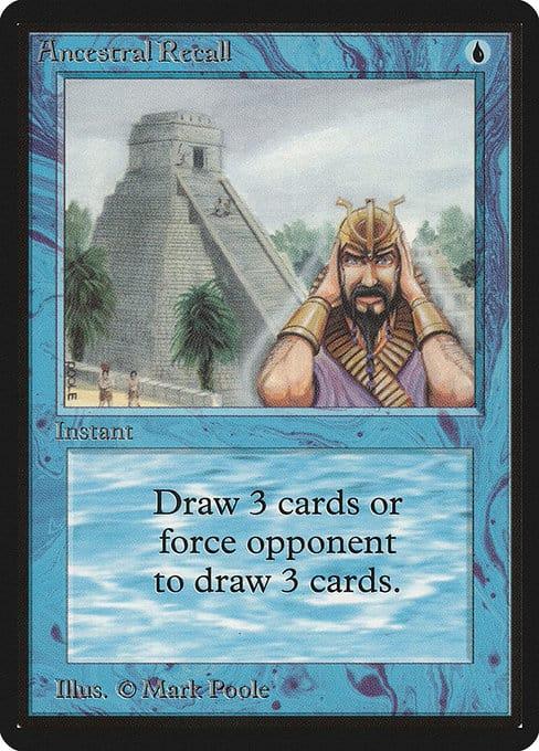 La magie la plus chère : le rassemblement des cartes - Rappel ancestral