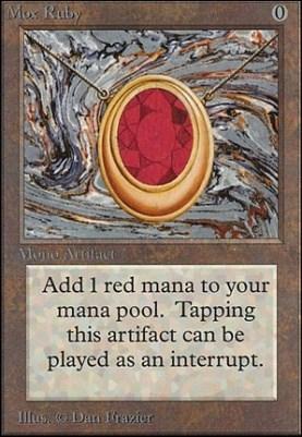 Les cartes MTG les plus chères - Mox Ruby