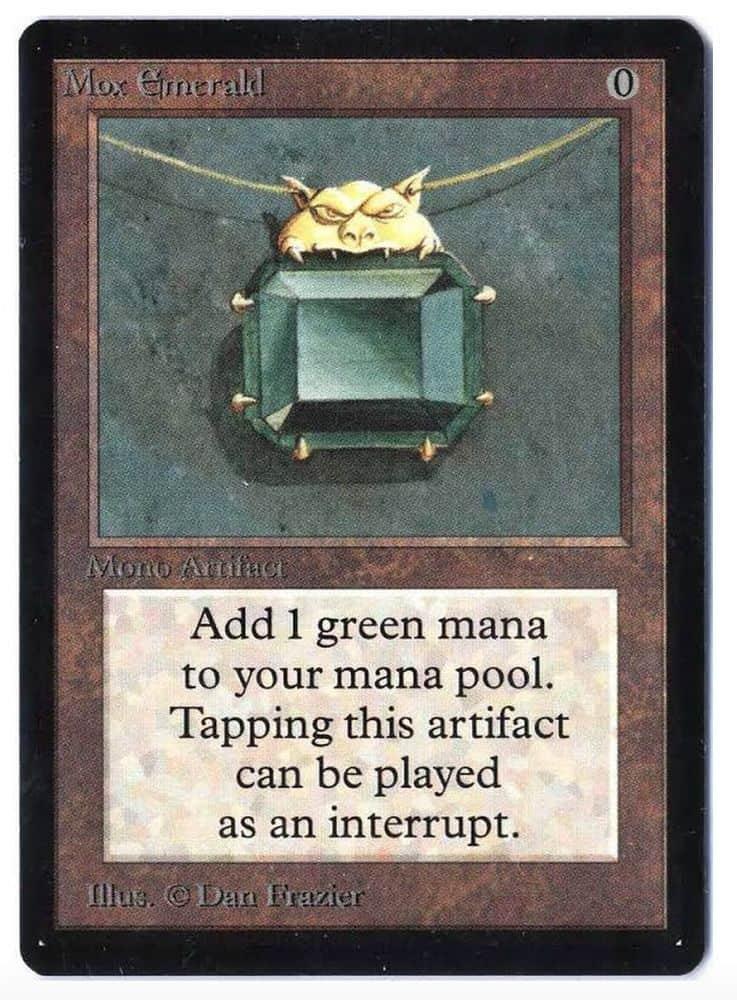 La magie la plus chère Les cartes de collection - Mox Emerald