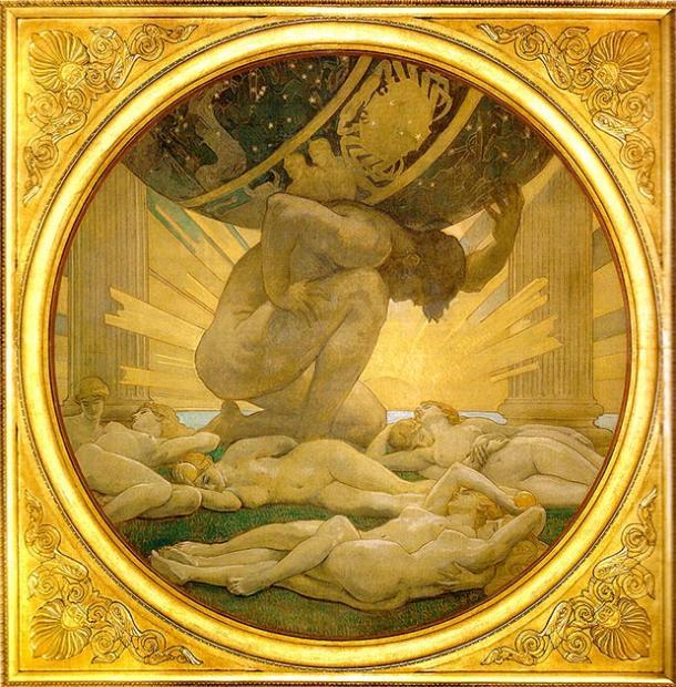 L'Atlas et les Hespérides. (Mattes / Domaine public)