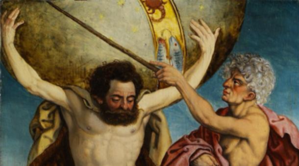 Héraclès tenant le monde pour Atlas. (FA2010 / Domaine public)