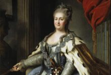 Portrait of Catherine the Great of Russia (1729-1796) (cropped) by Fydor Rokotov      Source: Public Domain