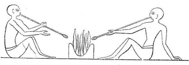 Les souffleurs de verre égyptiens de la 12e dynastie (environ 2 200 av. J.-C.)