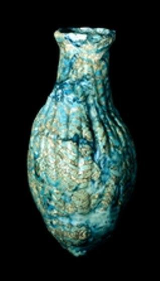 Bouteille en verre cannelée de Mésopotamie (1300-1200 avant J.-C.)
