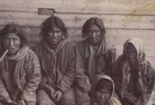 Ket People, Native Peoples of Siberia. Black and White Photo, 1900s