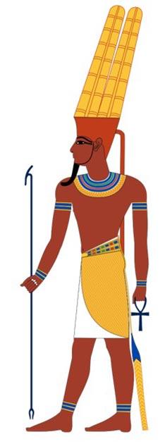 Représentation typique du dieu égyptien Amon. (Jeff Dahl / CC BY-SA 4.0)